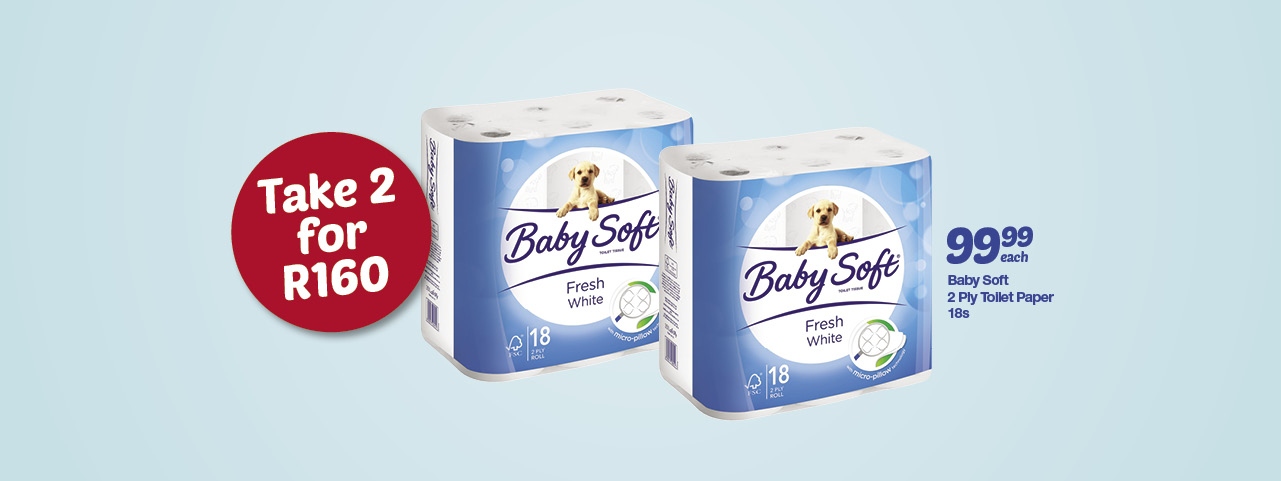 Baby Soft 18's 2ply toilet paper
