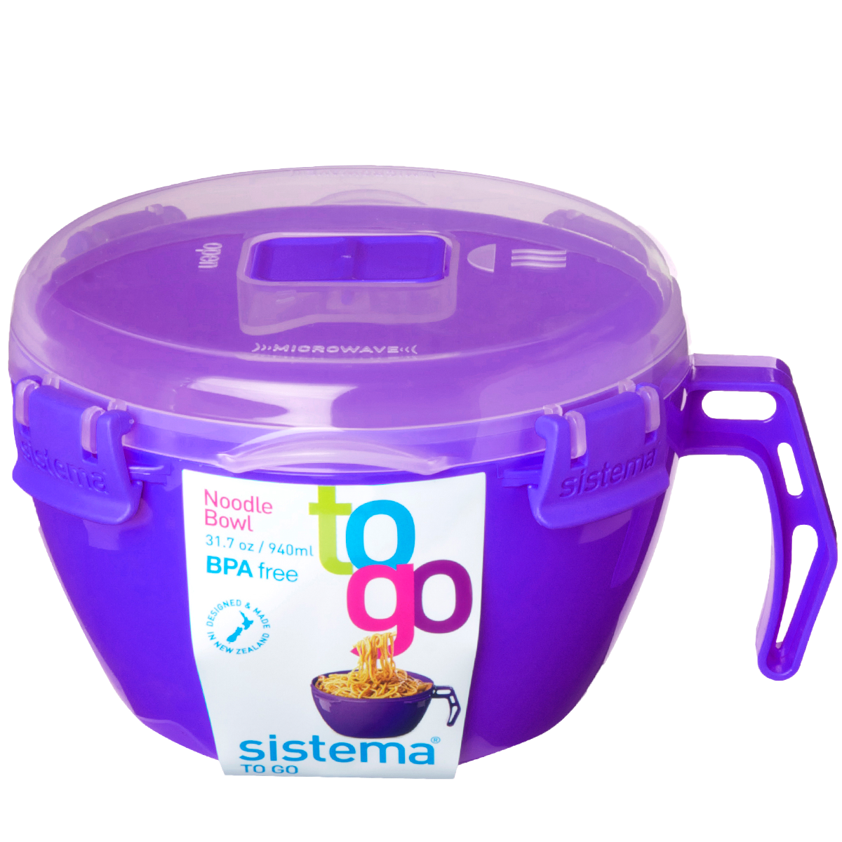 SISTEMA NOODLE BOWL 940ML PURPLE