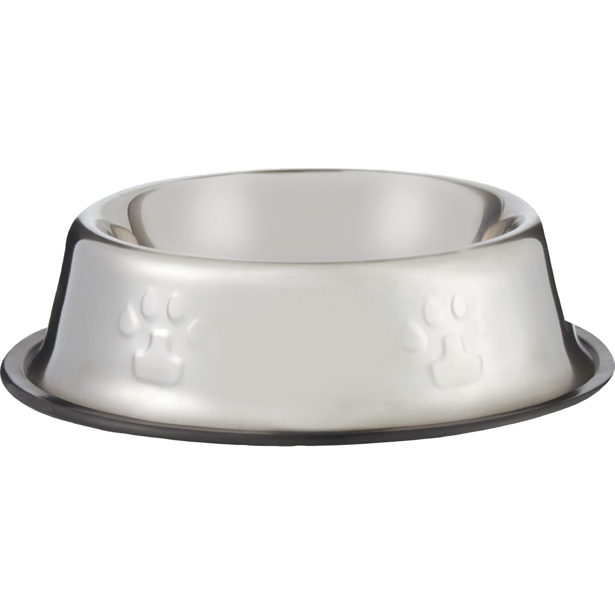18cm stainless steel dog bowl with rubber