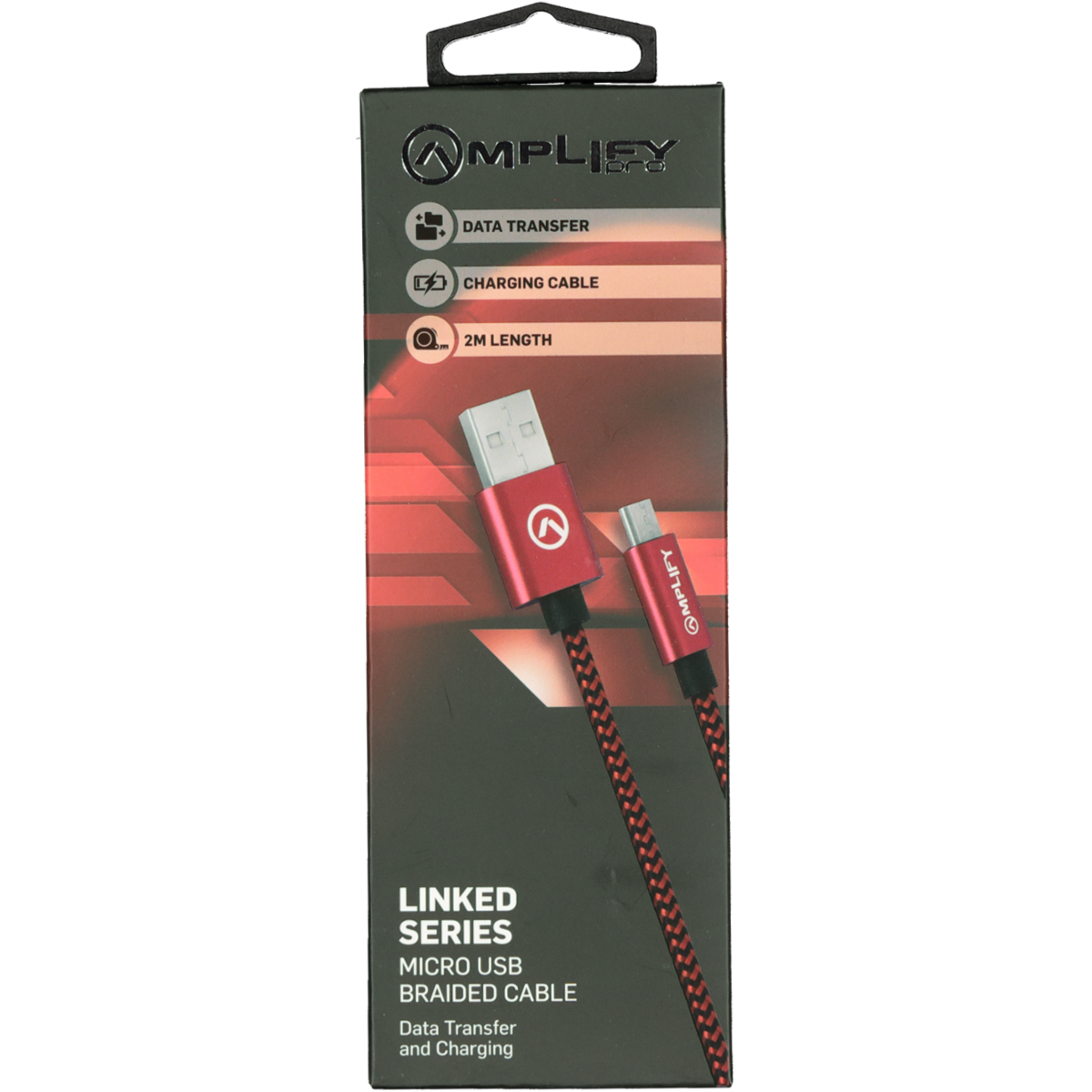 AMPLIFY LINKED SERIES USB CABLE RED