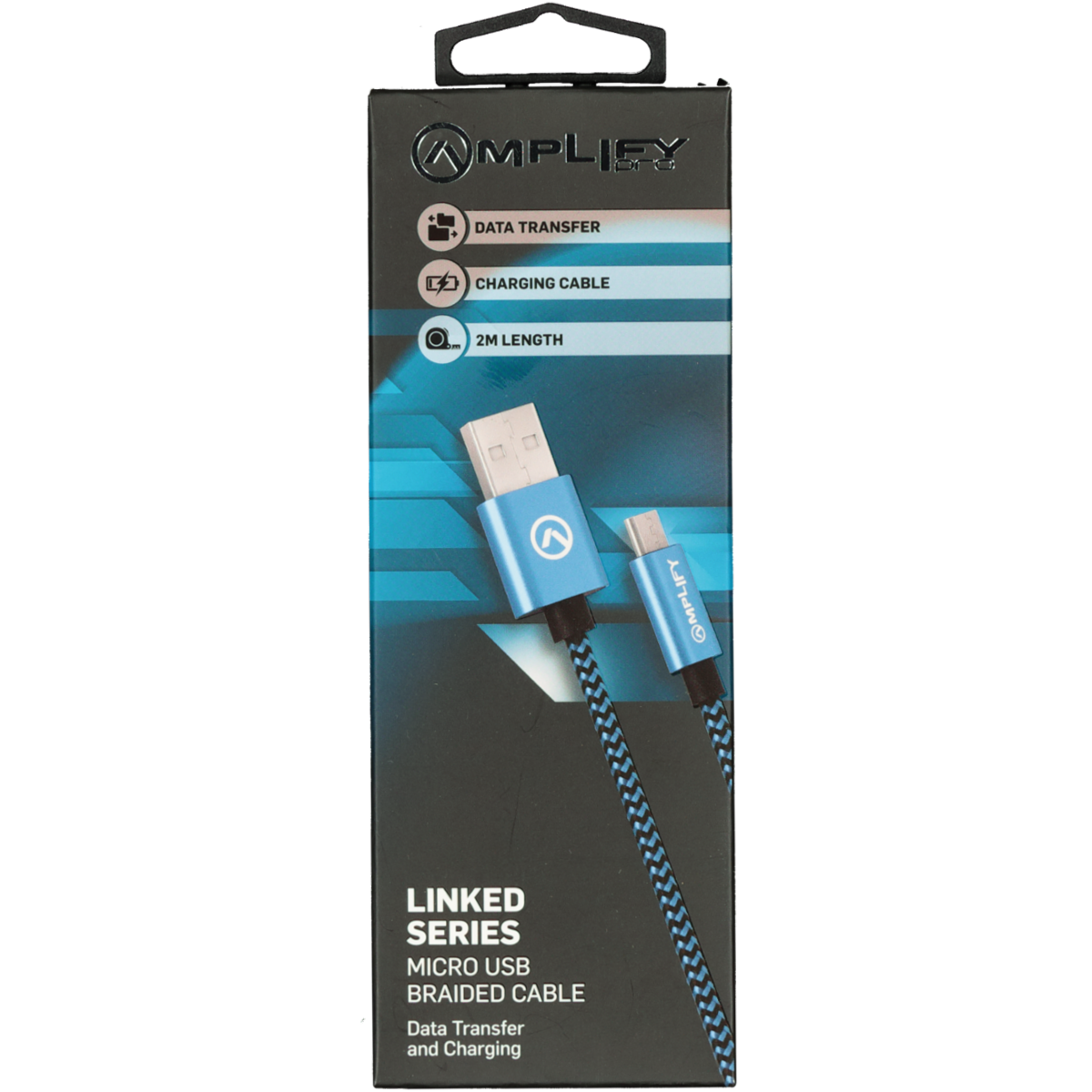 AMPLIFY LINKED SERIES USB CABLE BLUE