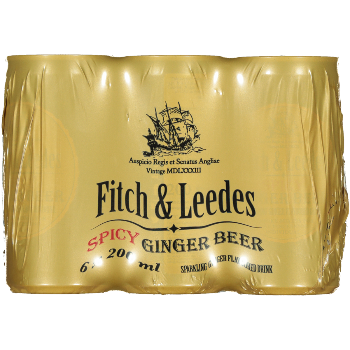 FITCH AND LEEDES SPICY GINGER BEER 6PK