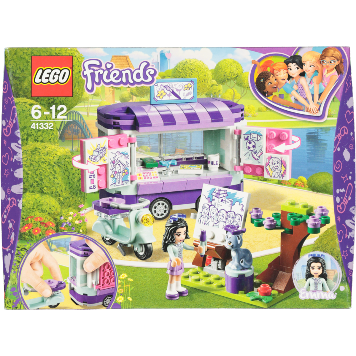EMMA'S ART STAND LEGO FRIENDS 41332