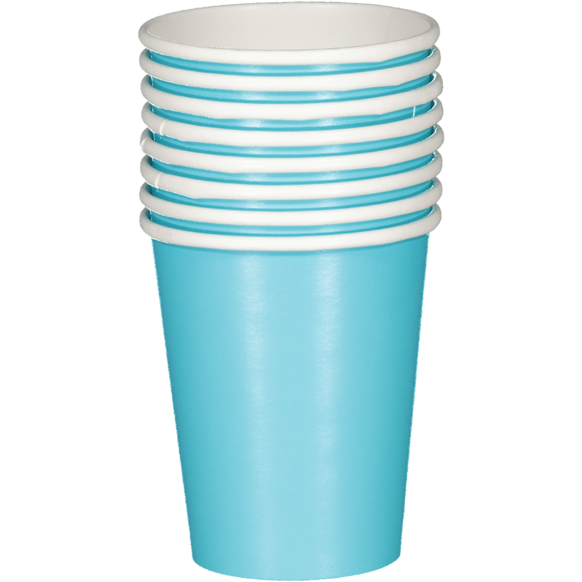 SOLID BERMUDA BLUE CUPS 8PCS
