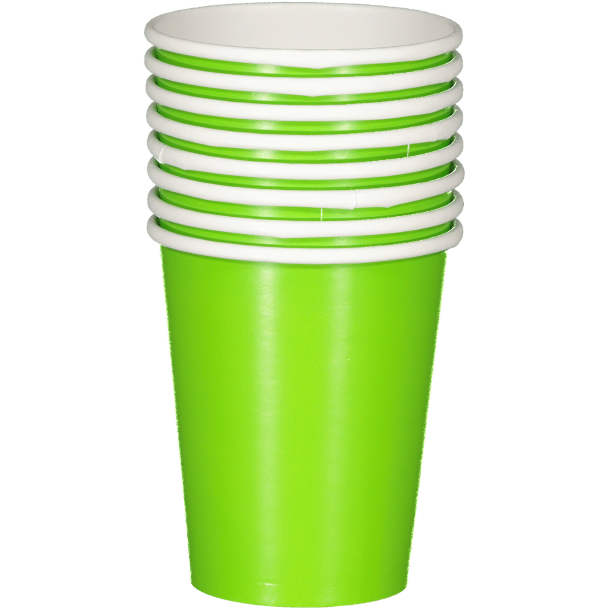 SOLID FRESH LIME CUPS 8PCS