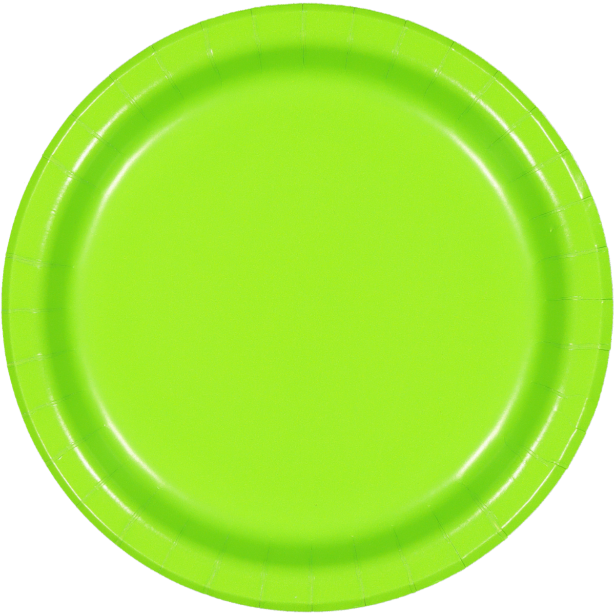 SOLID FRESH LIME PLATES 8PCS