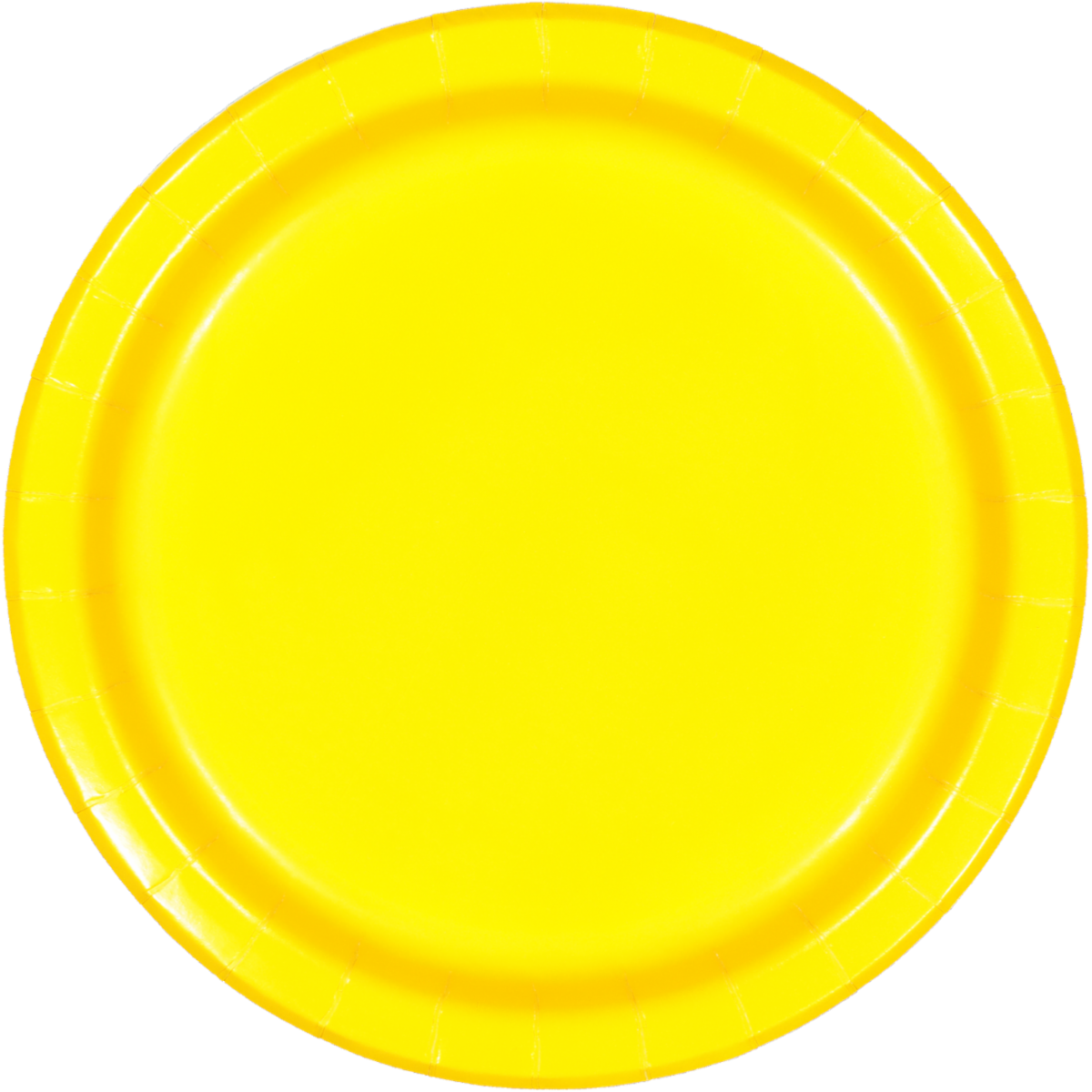 SOLID SCHOOL BUS YELLOW PLATES 8PCS