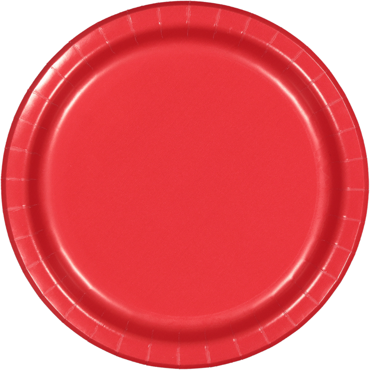 SOLID RED PLATES 8PCS