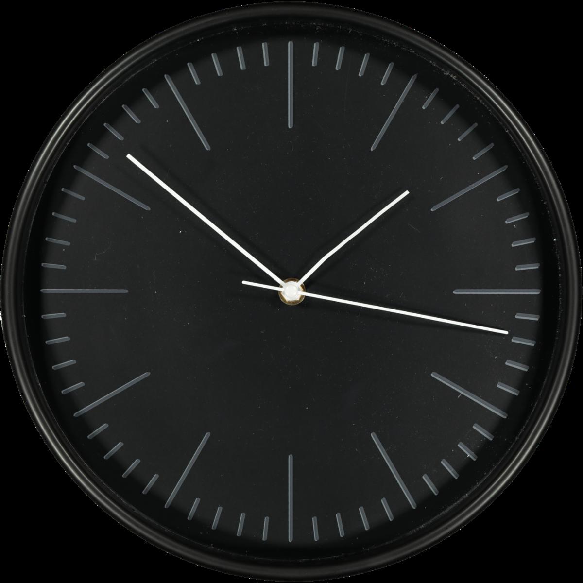 CLASSIC WALL CLOCK BLACK