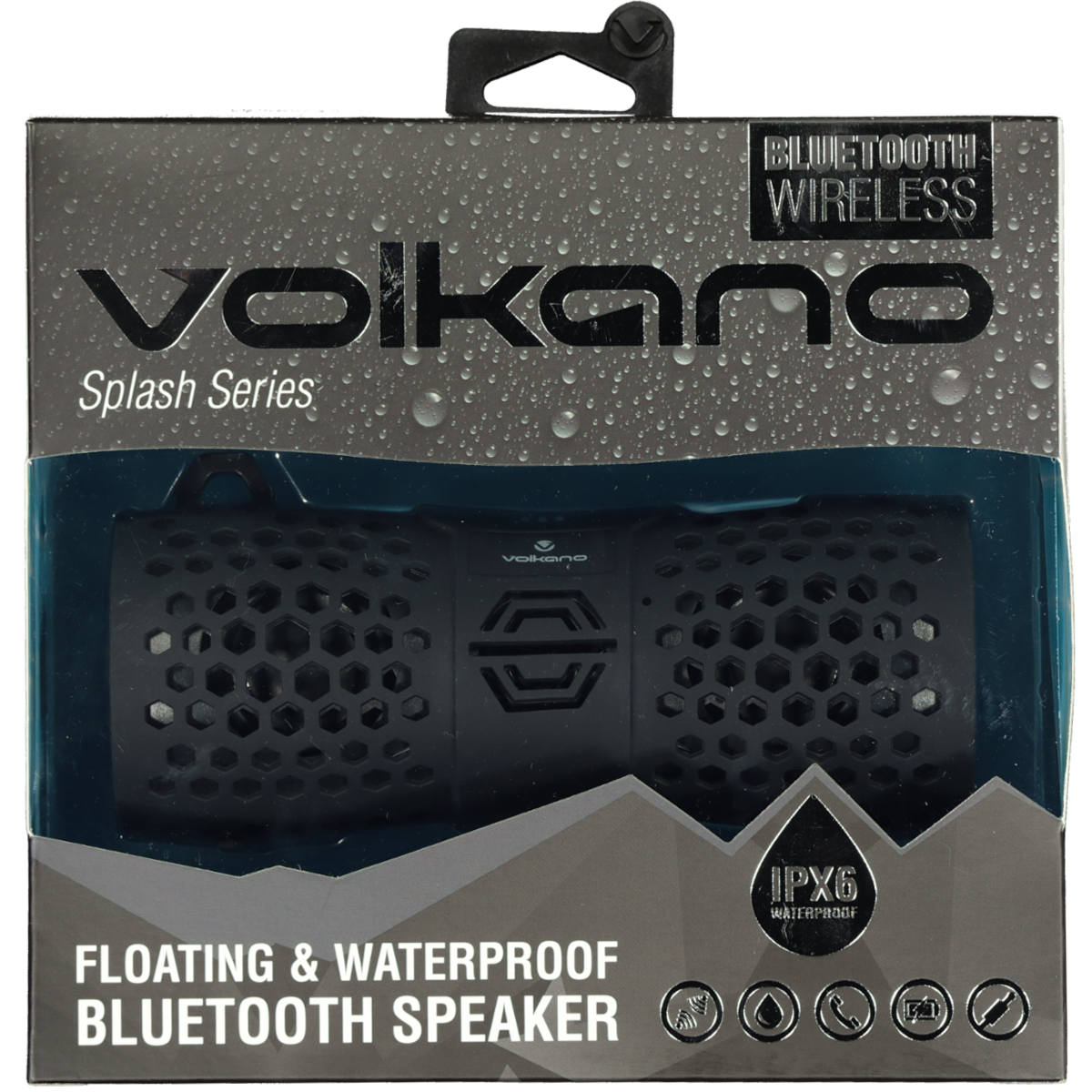 VOLKANO SPLASH WATERPROOF SPEAKER