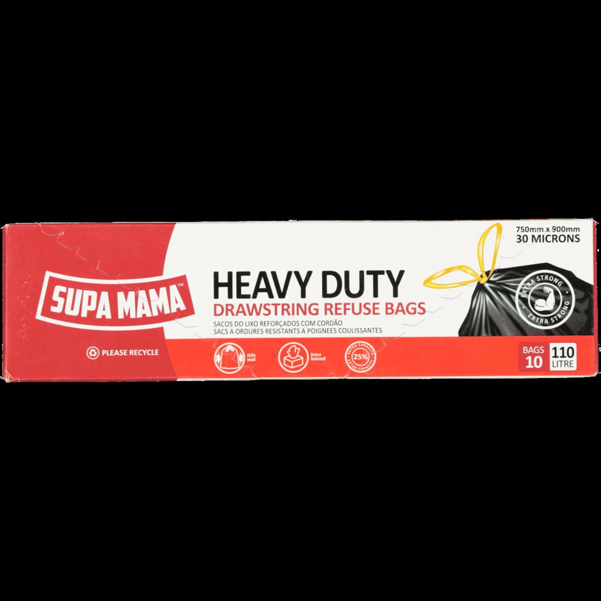 SUPA MAMA HEAVY DUTY REFUSE BAGS 10S