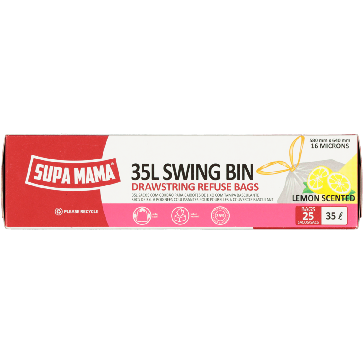 SUPA MAMA SWING BIN 35L-LEMON SCENTED