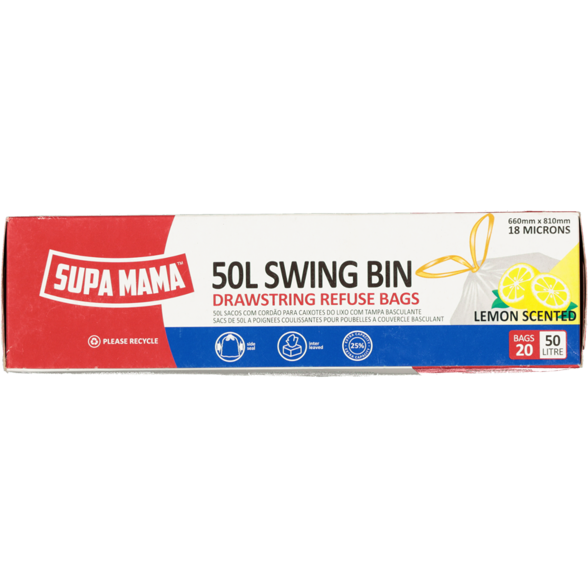 SUPA MAMA SWING BIN 50L-LEMON SCENTED