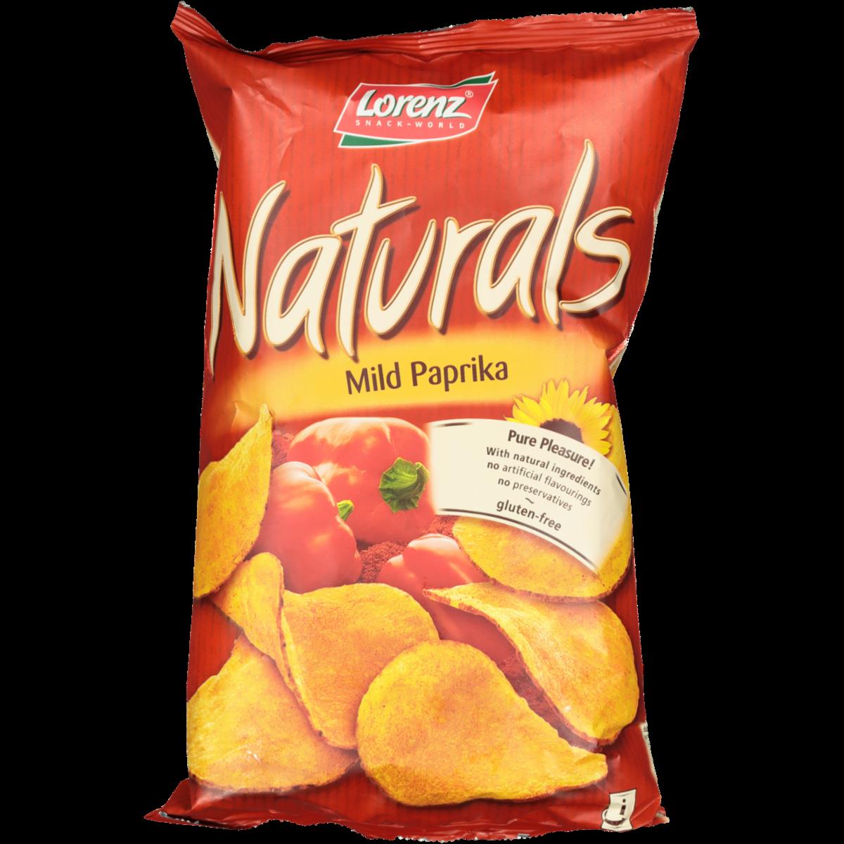 NATURALS GLUTEN FREE MILD PAPRIKA CHIPS