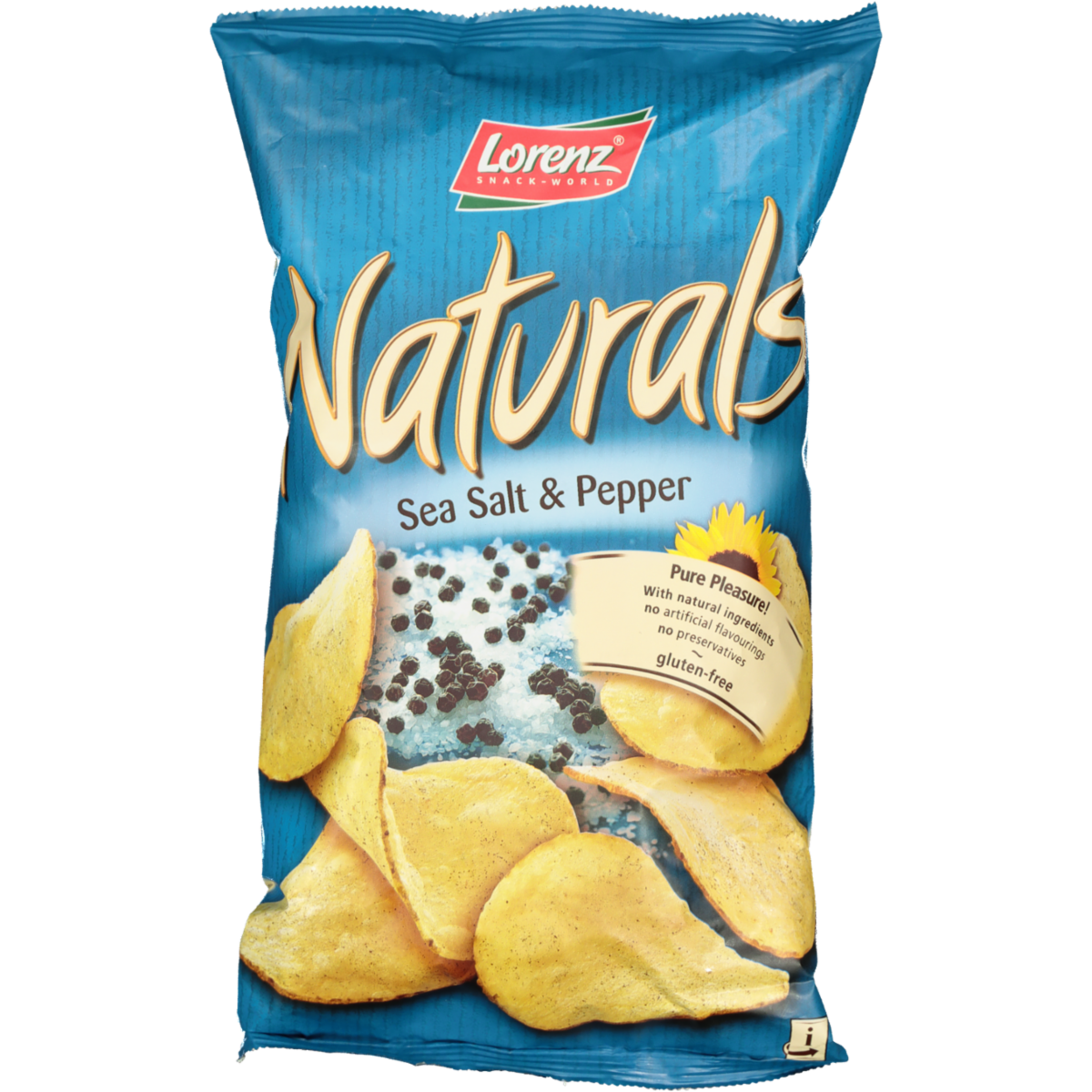 NATURALS GLUTEN FREE SEA SALT AND BLACK PEPPER CHIPS