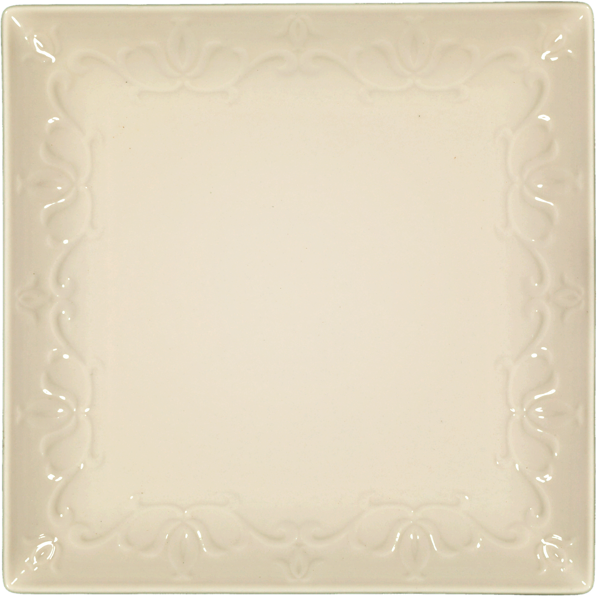 SQUARE DINNER PLATE LEAF DESIGN