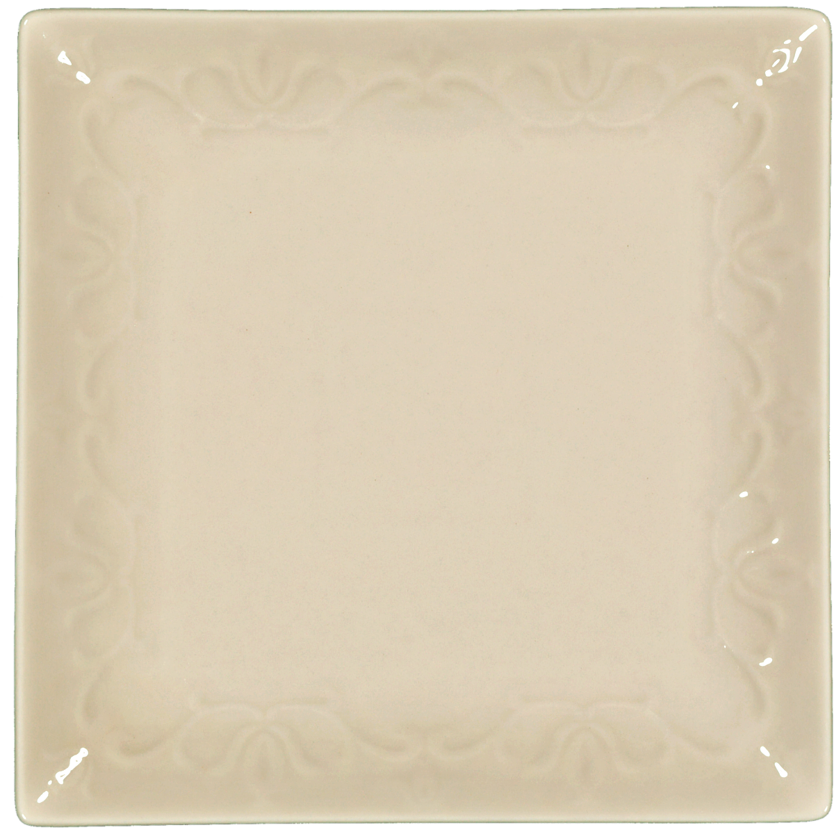 SQUARE SIDE PLATE LEAF DESIGN