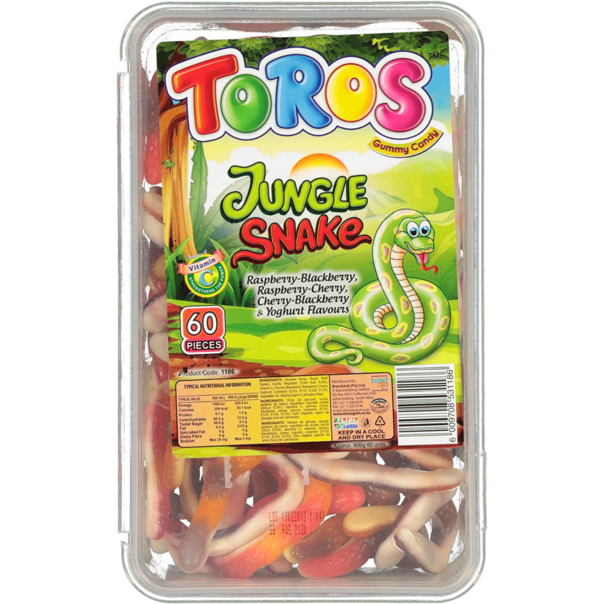 TOROS JUNGLE SNAKE ASSORTED 60S