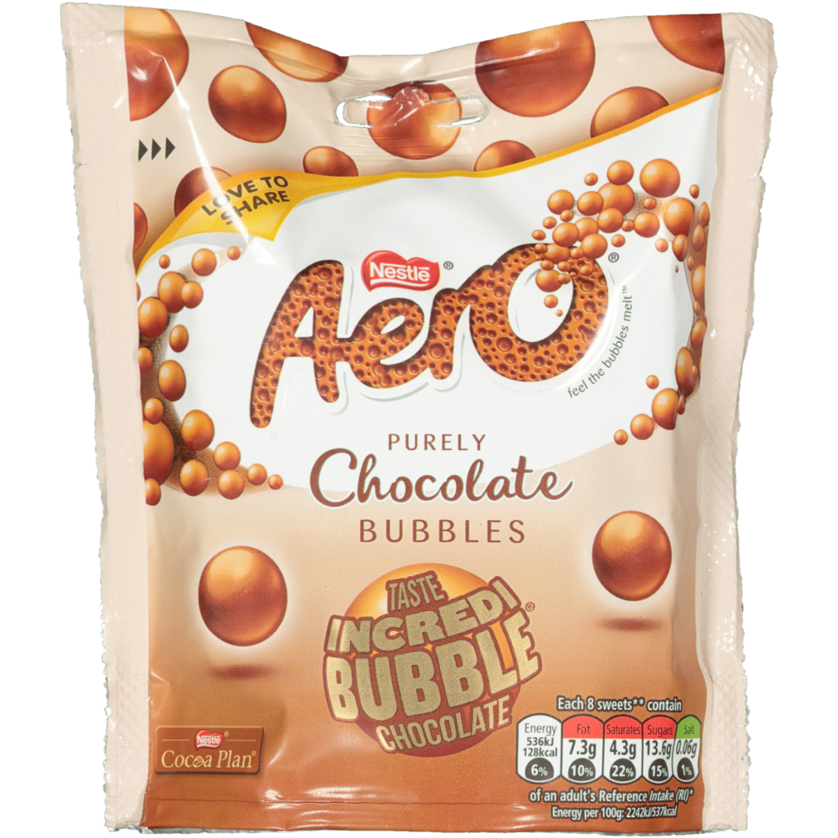 NESTLE AERO BUBBLE CHOC 102G