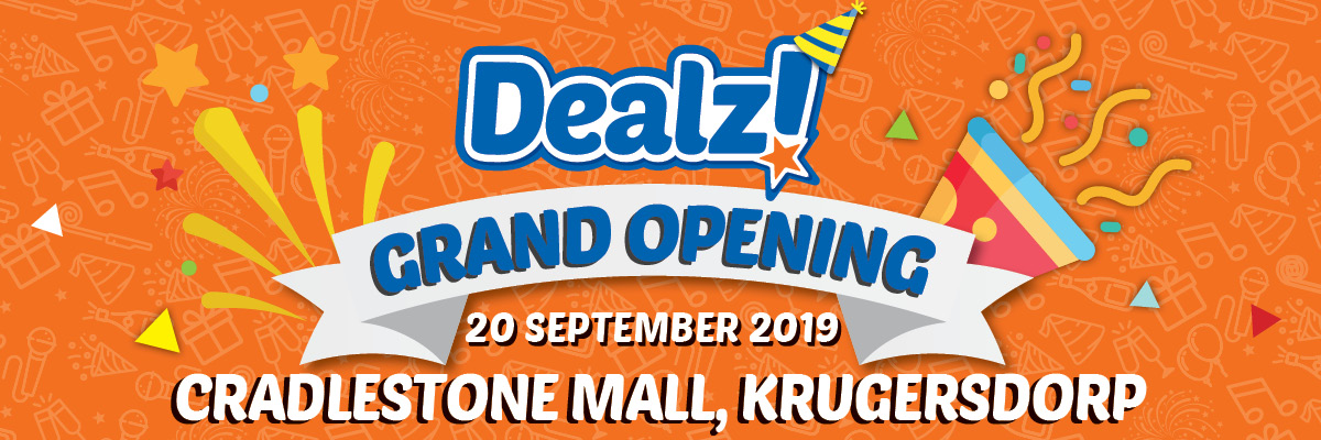 Promotion valid from 20th to 24th  Sept for Cradlestone Mall Store Opening only.