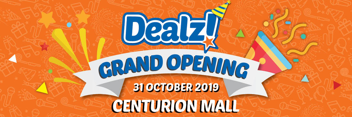 Promotion valid from 31 October to 3rd November for Centurion Mall Store Opening only.