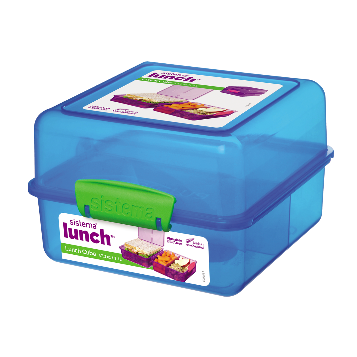 Sistema Lunch Cube Coloured Trend 1.4L