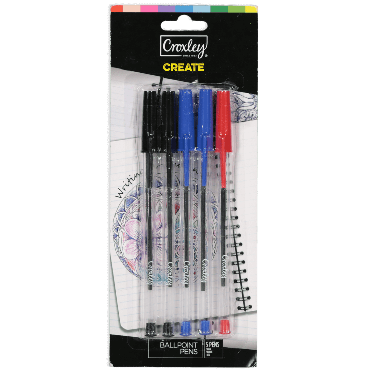 Croxley Ball Point Pens | 5 pack